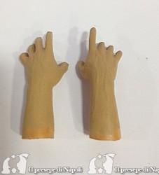 mani uomo colorate