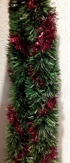 Ramo verde  con fili rossi lungo mt 2,70