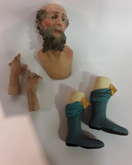 Kit testa mano e piedi re magio vecchio