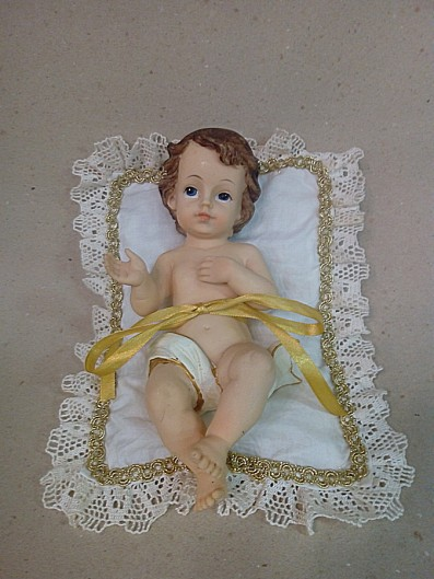 cuscino con passamaneria con bambino Gesù  (+ grande) )