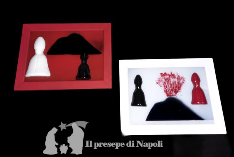Quadro con Vesuvio modelli assortiti cm 21x16