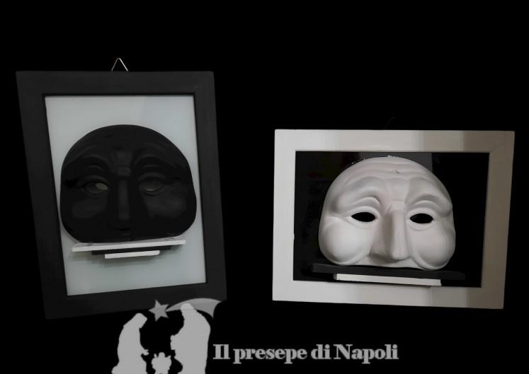 Quadro con maschera di Pulcinella cm 21x16