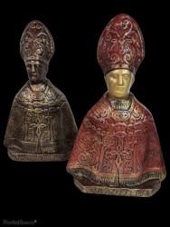 San Gennaro decorato in terracotta cm 30