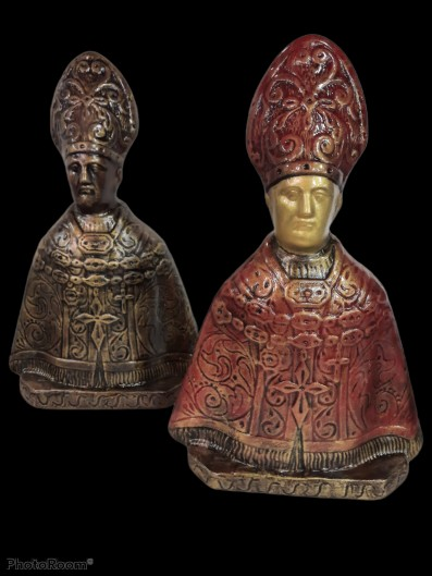 San Gennaro decorato in terracotta