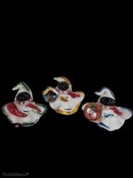 campanella pulcinella terracotta ceramizzata