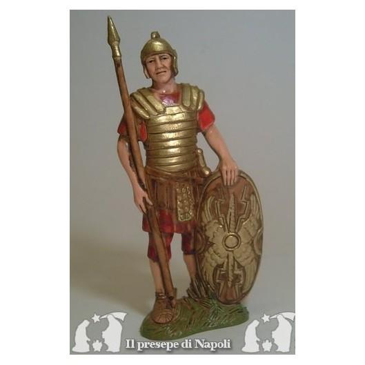 Soldato con lancia e scudo ovale