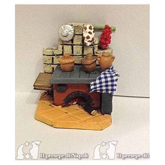 Cucina di terracotta con luce