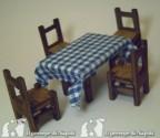 tavolo (medio l cm7 x h cm4 x pr. cm4,5 Con 4 sedie