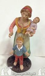 donna con due bambini