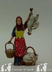 Donna con galline