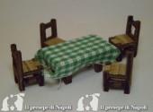 tavolo (piccolissimo) l cm5 x h cm2.5 x pr. cm3 Con 4 sedie