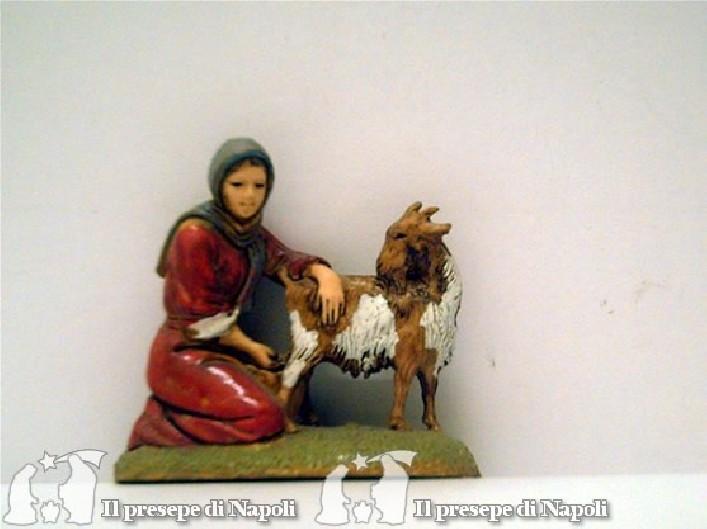 Donna con capra