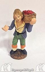 ragazzo con cesta sulle spalle