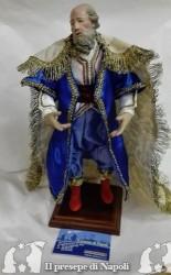 Re magio vecchio cm 30-33 con occhi di vetro