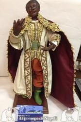re magio moro con occhi di vetro cm 30 - 33