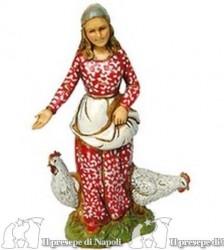 Ragazza con galline