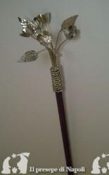 Giglio Giuseppe legno e metallo argentato h cm 40
