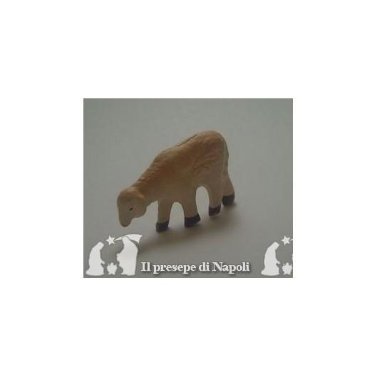 pecora con testa abbassata per pastore cm 6