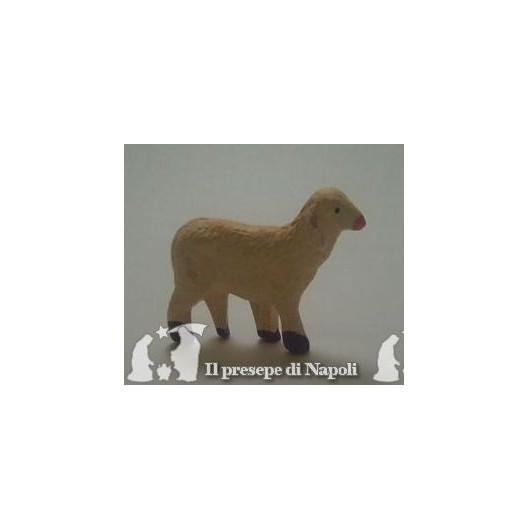 pecora con testa alzata per pastore cm 10