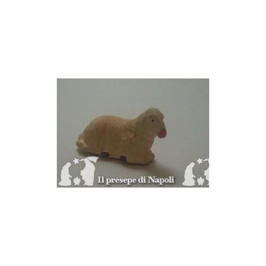 pecora seduta per pastore cm 10
