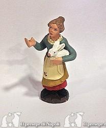 donna con coniglietto