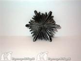 Raggiera media color argento invecchiato Diametro cm 6,5