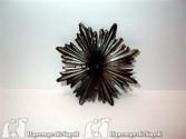 Raggiera grande color argento invecchiato Diametro cm 9
