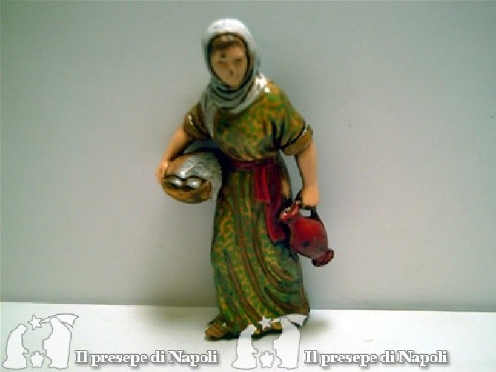 Donna con brocca e cesta