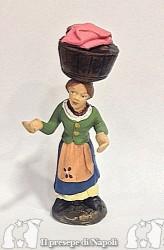 donna con cesta in testa