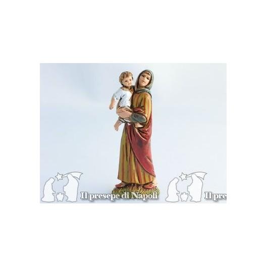 Donna con bimbo in braccio